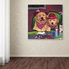 "Jenny Newland 'Poker Dogs' Canvas Art, 35"" x 35"""