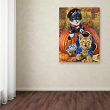 "Jenny Newland 'Halloween Kittens' Canvas Art, 18"" x 24"""