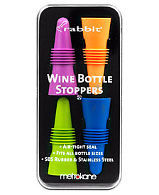 Metrokane Barware, Set of 4 Rabbit Wine Bottle Stoppers