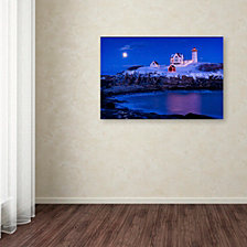 Michael Blanchette Photography 'Christmas at Nubble' Canvas Art