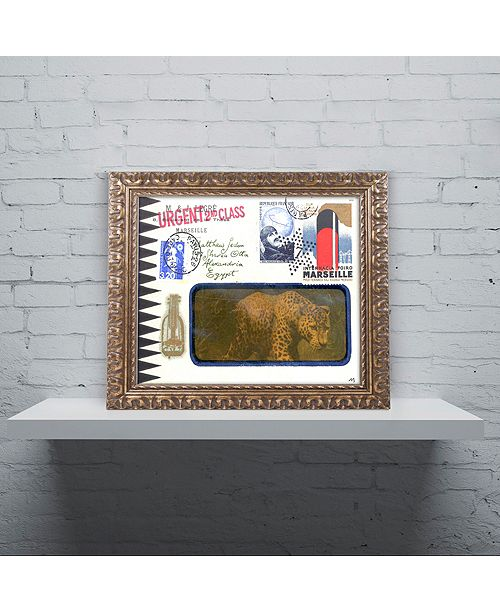 "Trademark Global Nick Bantock 'Marseille Leopard' Ornate Framed Art, 11"" x 14"""