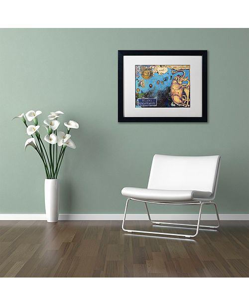 "Trademark Global Nick Bantock 'Silent Nightmail' Matted Framed Art, 16"" x 20"""