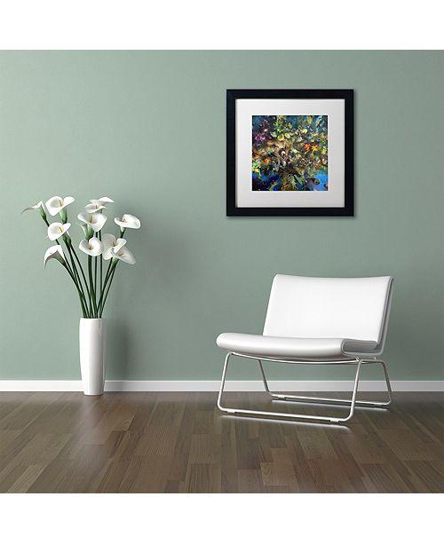 "Trademark Global Nick Bantock 'Tree of Life' Matted Framed Art, 11"" x 11"""