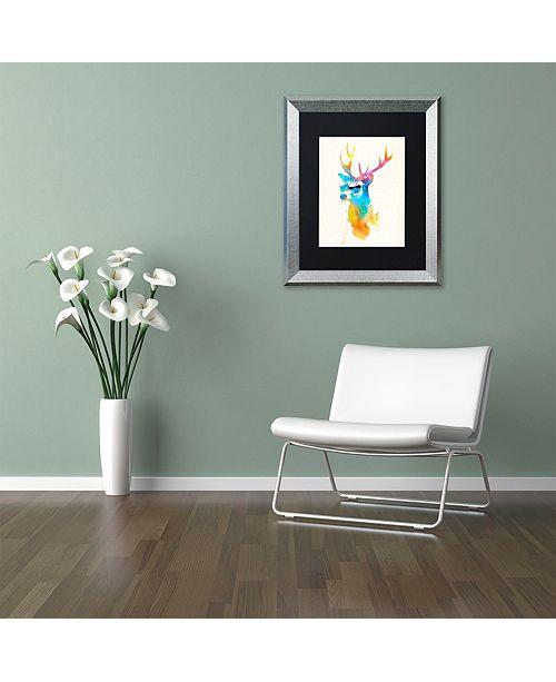 "Trademark Global Robert Farkas 'Sunny Stag' Matted Framed Art, 11"" x 14"""