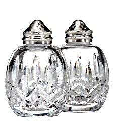 Waterford Serveware, Lismore Round Salt and Pepper Shakers