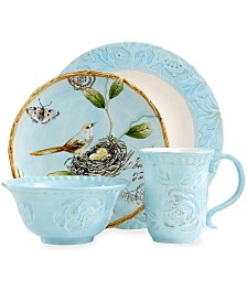 Fitz and Floyd Dinnerware, Toulouse Blue Collection
