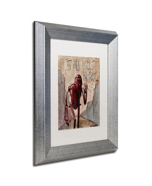 """Trademark Global Craig Snodgrass 'It All Falls Apart' Matted Framed Art, 11"""" x 14"""""""