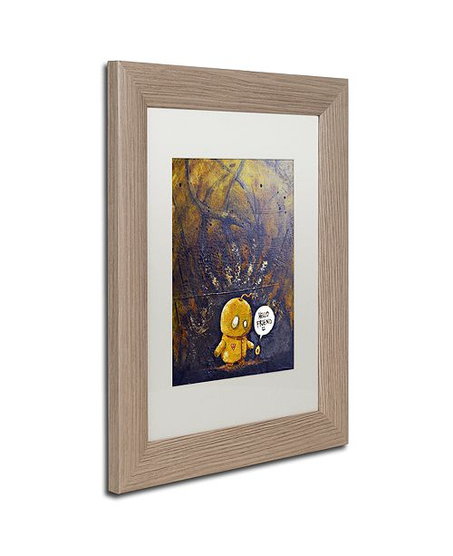 "Trademark Global Craig Snodgrass 'Hello Friend' Matted Framed Art, 11"" x 14"""
