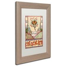 """Rachel Paxton 'Mink Meadows Butterfly' Matted Framed Art, 11"""" x 14"""""""