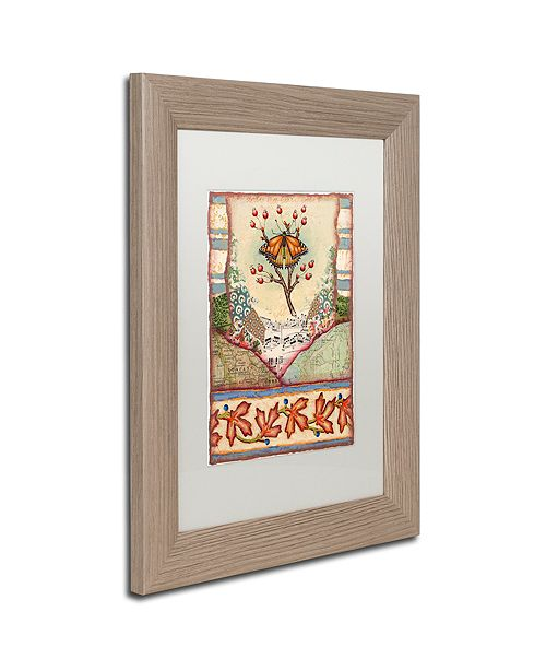 "Trademark Global Rachel Paxton 'Mink Meadows Butterfly' Matted Framed Art, 11"" x 14"""