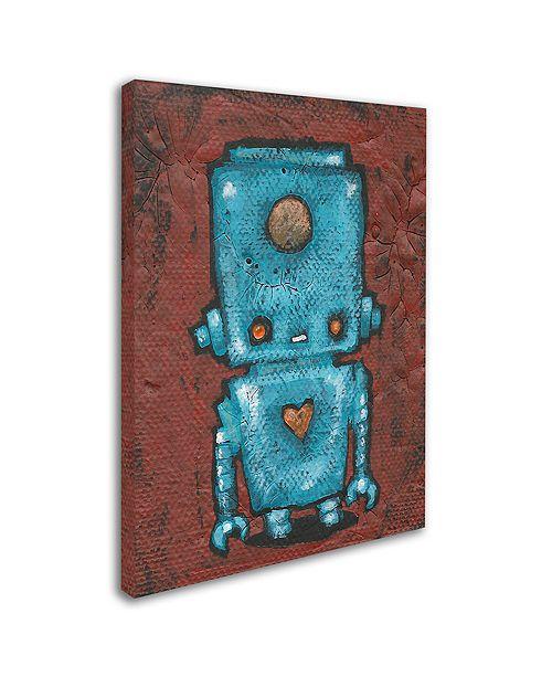 """Trademark Global Craig Snodgrass 'Wee-Bot-Blue' Canvas Art, 24"""" x 32"""""""