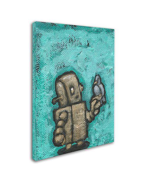 """Trademark Global Craig Snodgrass 'Weebot-Bird' Canvas Art, 35"""" x 47"""""""