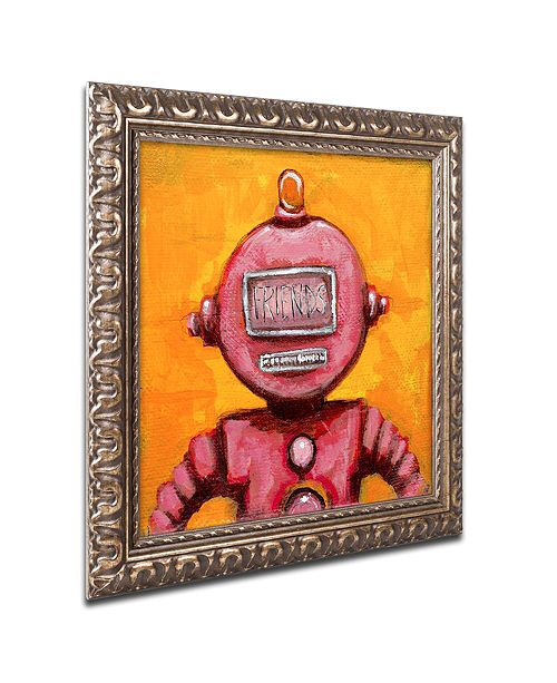 "Trademark Global Craig Snodgrass 'Weebot-Friends' Ornate Framed Art, 11"" x 11"""