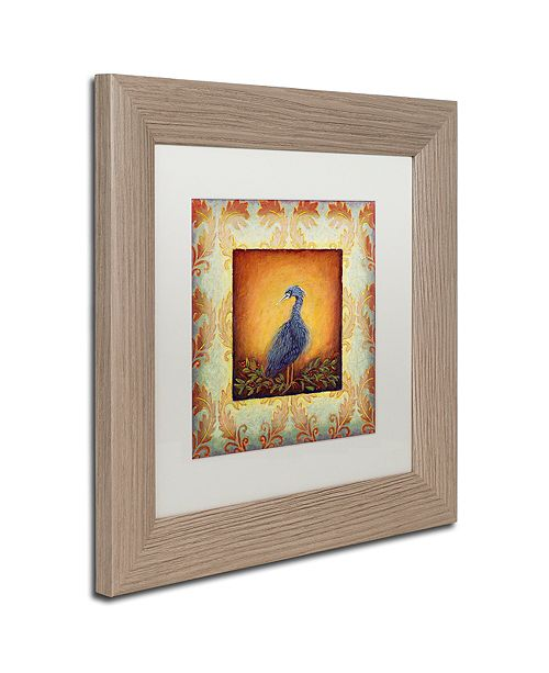 "Trademark Global Rachel Paxton 'Woodside Heron' Matted Framed Art, 11"" x 11"""