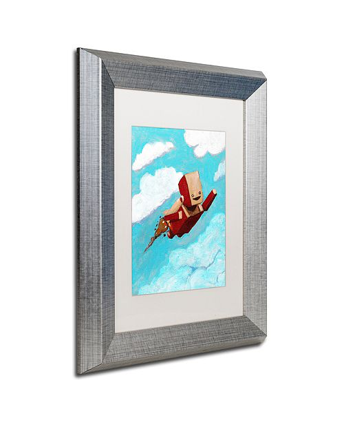 """Trademark Global Craig Snodgrass 'Rocket Bot' Matted Framed Art, 11"""" x 14"""""""