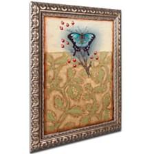 "Rachel Paxton 'Salt Meadow Butterfly' Ornate Framed Art, 11"" x 14"""