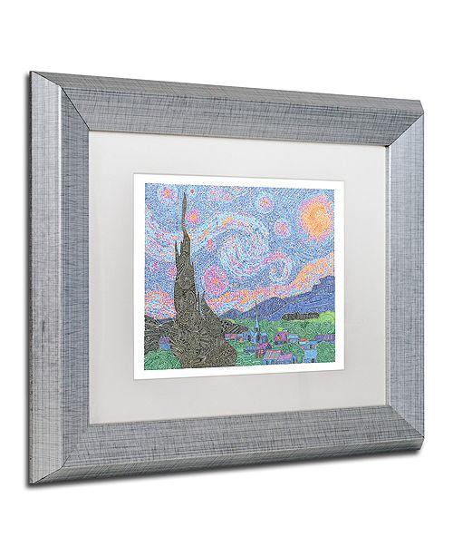 "Trademark Global Viz Art Ink 'A Night To Remember' Matted Framed Art, 11"" x 14"""