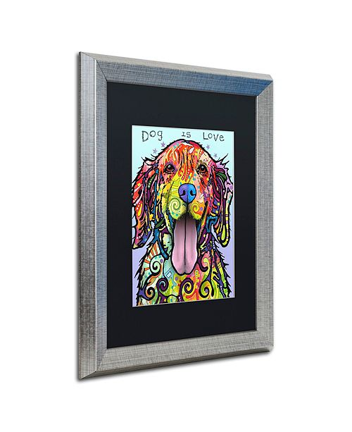 "Trademark Global Dean Russo 'Dog Is Love' Matted Framed Art, 16"" x 20"""