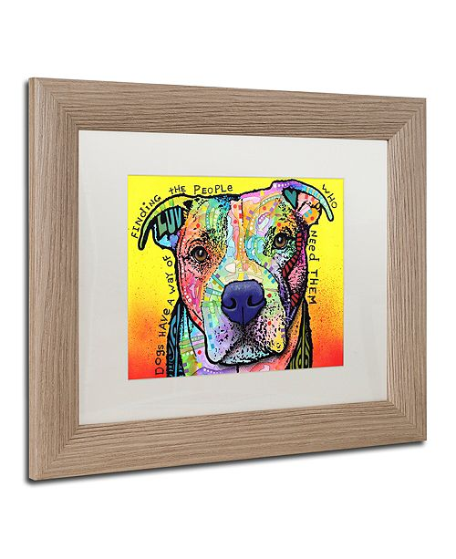 "Trademark Global Dean Russo 'Dogs Have A Way' Matted Framed Art, 11"" x 14"""