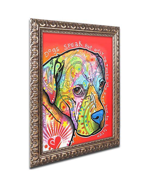 """Trademark Global Dean Russo 'Dogs Speak' Ornate Framed Art, 16"""" x 20"""""""