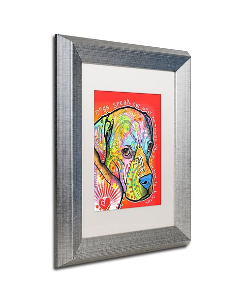 "Trademark Global Dean Russo 'Dogs Speak' Matted Framed Art, 11"" x 14"""