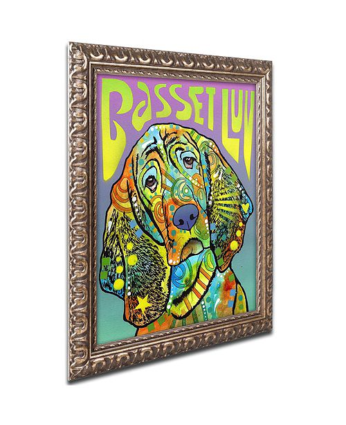 "Trademark Global Dean Russo 'Basset Luv' Ornate Framed Art, 16"" x 20"""