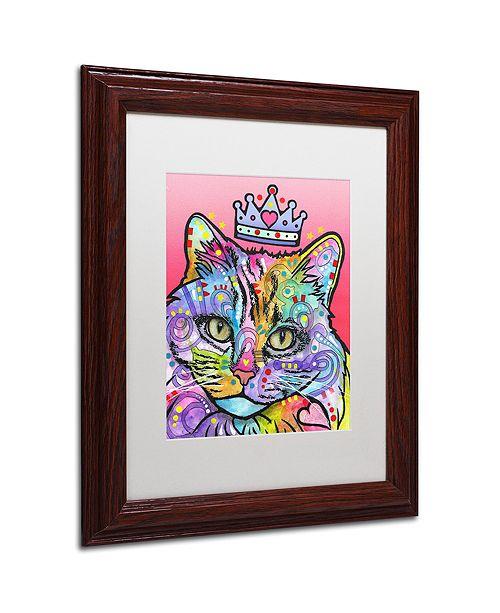 """Trademark Global Dean Russo 'Love Cat 5' Matted Framed Art, 11"""" x 14"""""""