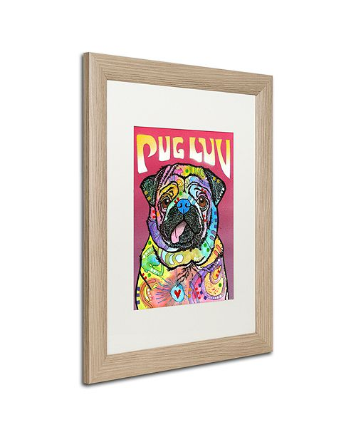 "Trademark Global Dean Russo 'Pug Luv' Matted Framed Art, 16"" x 20"""