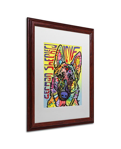 "Trademark Global Dean Russo 'German Shepherd Luv' Matted Framed Art, 16"" x 20"""