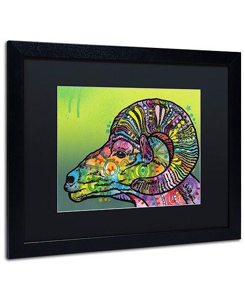"""Trademark Global Dean Russo 'Ram' Matted Framed Art, 16"""" x 20"""""""
