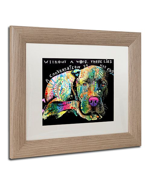 """Trademark Global Dean Russo 'Without a Word' Matted Framed Art, 11"""" x 14"""""""