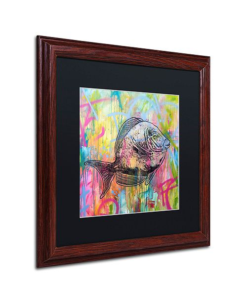 "Trademark Global Dean Russo 'Fishy Spray' Matted Framed Art, 16"" x 16"""