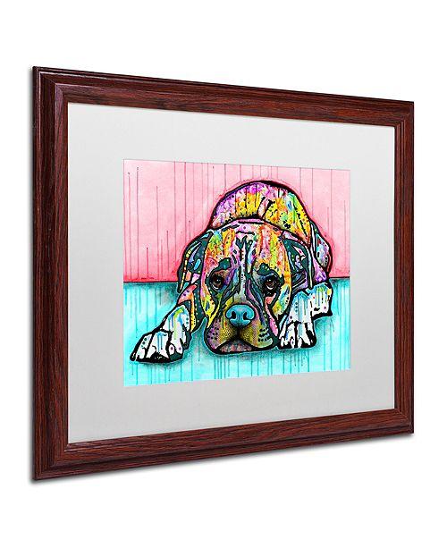 "Trademark Global Dean Russo 'Lying Boxer' Matted Framed Art, 16"" x 20"""