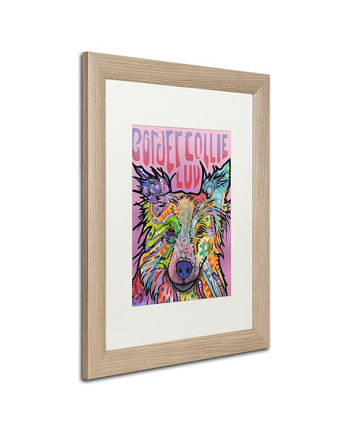 "Trademark Global Dean Russo 'Border Collie Love 2' Matted Framed Art, 16"" x 20"""