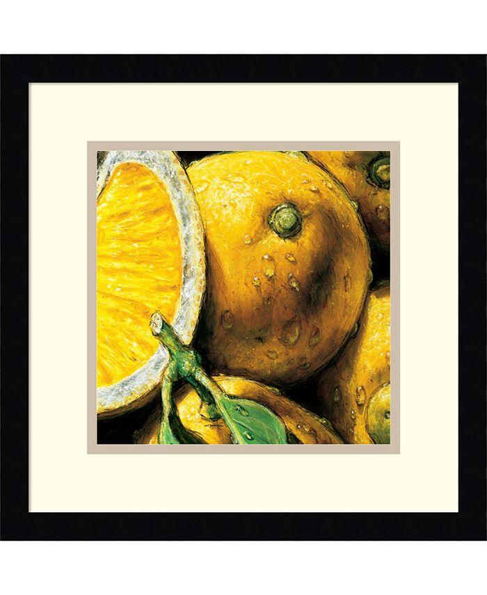 Amanti Art - Lemons 15x15 Framed Art Print