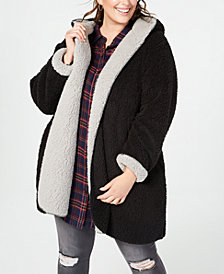 Style & Co Plus Size Reversible Faux-Fur Coat, Created for Macy's