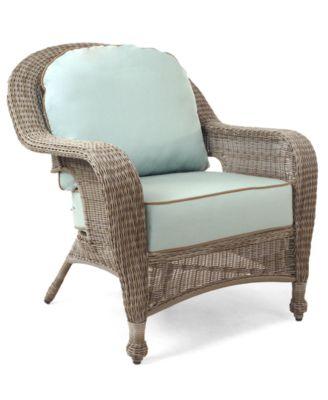 Furniture Sandy Cove Wicker Outdoor Club Chair, Created For Macyu0027s    Furniture   Macyu0027s