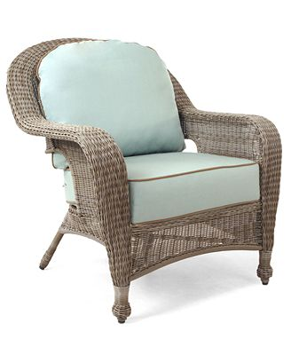 sandy cove wicker outdoor club chair, created for macy's