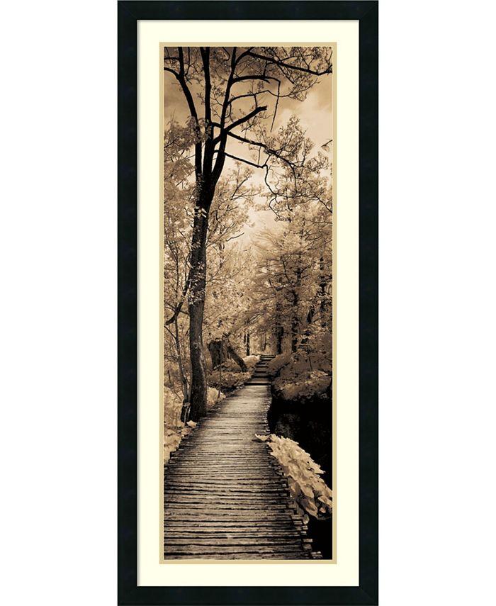 Amanti Art - A Quiet Stroll I 18x42 Framed Art Print