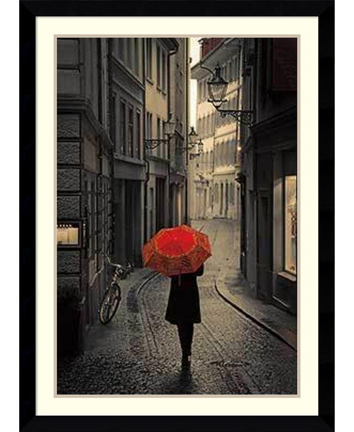 Amanti Art - Red Rain 31x43 Framed Art Print