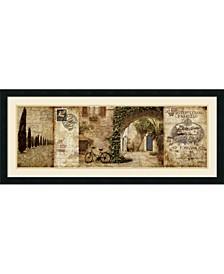 Tuscan Courtyard Framed Art Print