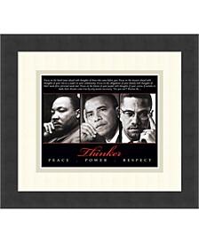 Thinker - Peace, Power, Respect Framed Art Print