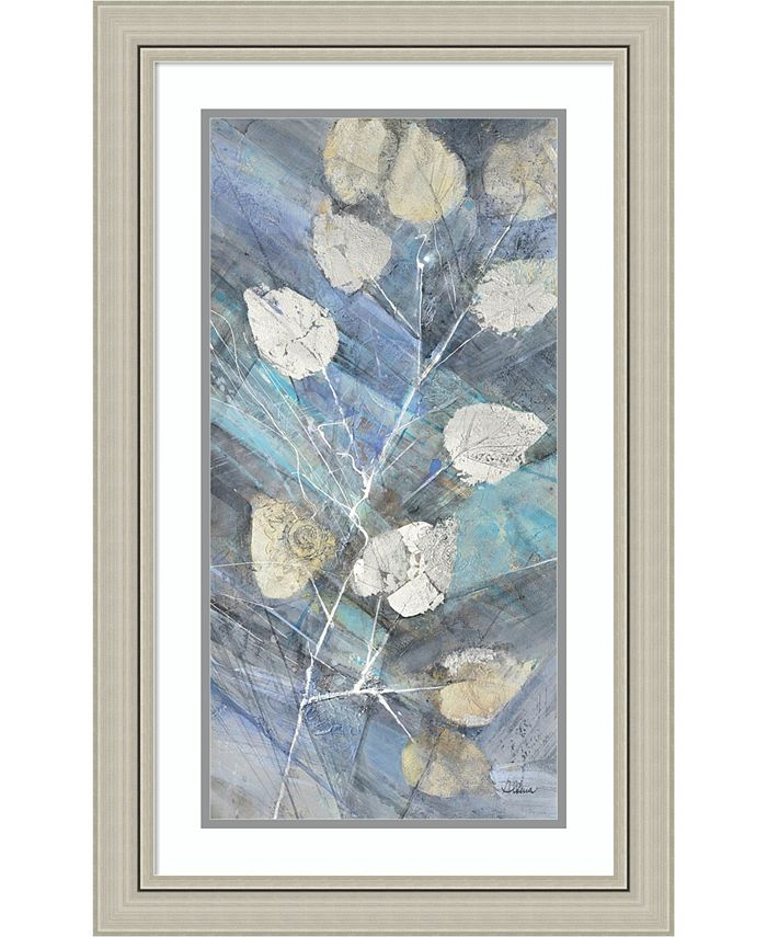 Amanti Art - Silver Leaves II 20x32 Framed Art Print