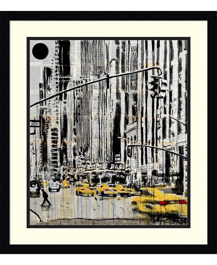 Amanti Art - Somewhere in New York City 20x23 Framed Art Print