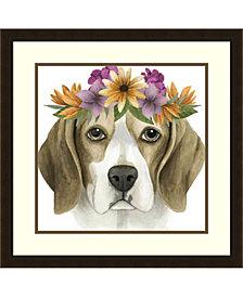 Amanti Art Flower Crown Pup IV Framed Art Print