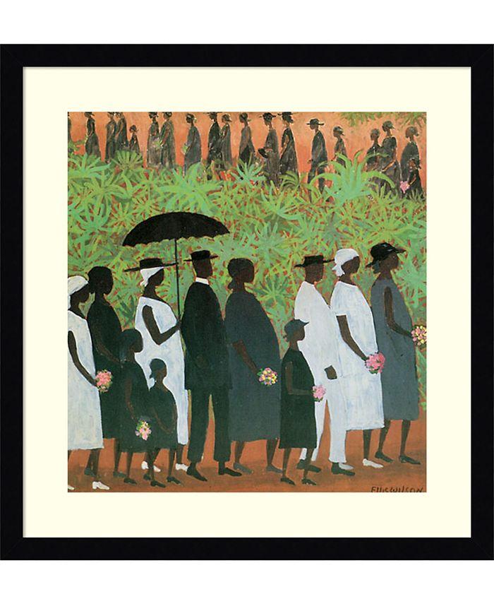 Amanti Art - Funeral Procession 20x20 Framed Art Print
