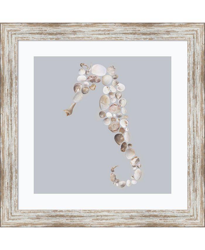 Amanti Art - Seahorse 18x18 Framed Art Print