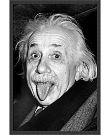 Albert Einstein - Funny Face- Framed Art Print