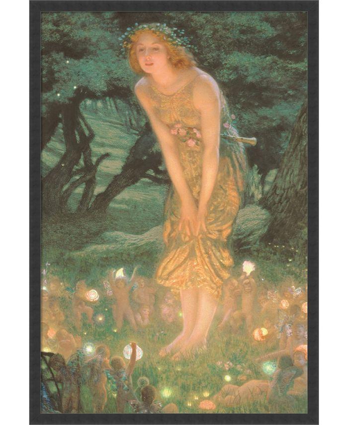 Amanti Art - Midsummer Eve by Edward Robert Hughes- 25x37 Framed Art Print
