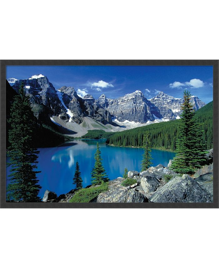 Amanti Art - Moraine Lake, Banff- 37x25 Framed Art Print